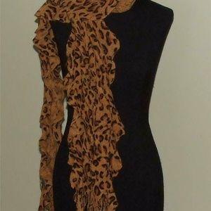 D&Y Leopard Ladies Scarf Muffler Gold & Black New